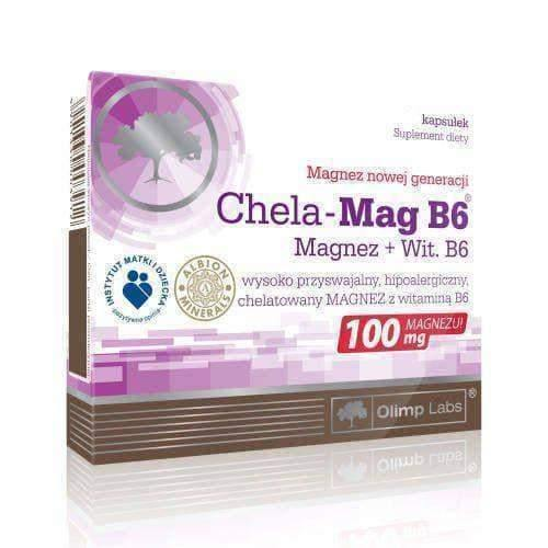 OLIMP Chela-Mag B6 x 60 capsules magnesium deficiency UK
