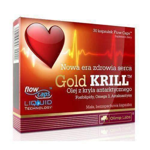 OLIMP Gold Krill x 30 capsules reduces cholesterol and blood pressure