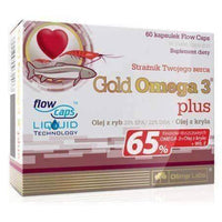 OLIMP Gold Omega 3 Plus 500mg x 60 capsules Krill oil UK