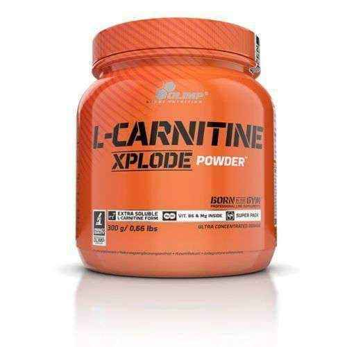 OLIMP L-Carnitine Xplode cherry powder 300g, acetyl l-carnitine powder UK