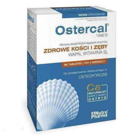 OSTERCAL 1250D x 90 tablets, Vitamin D3 - ELIVERA UK USA BUY, PRICE, REVIEWS