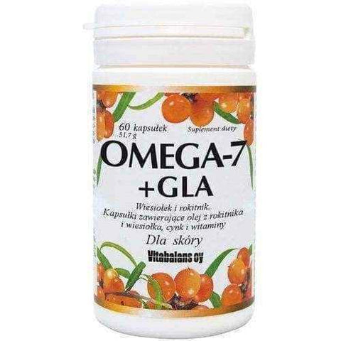 Omega-7 + GLA Evening primrose and sea buckthorn x 60 + 60 capsules