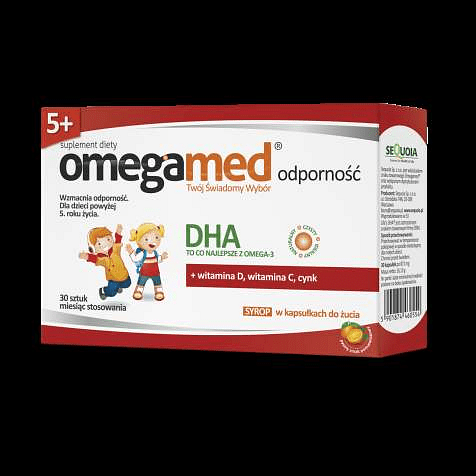 Omegamed RESISTANCE 5+ syrup capsules chewing x 30 pieces immune disorders.