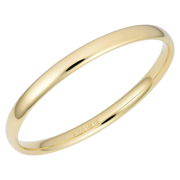 Oro Forte 14k Yellow Gold Filled Polished Slip-on Bangle - 8.5 inch