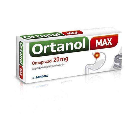 ORTANOL MAX 20mg x 14 capsules, esophagus problems