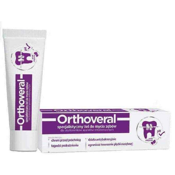 Orthoveral orthodontic tooth cleanser 75ml, teeth cleaning