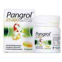 PANGROL 25000j.m. x 20 caps. pancreatic enzyme supplements.