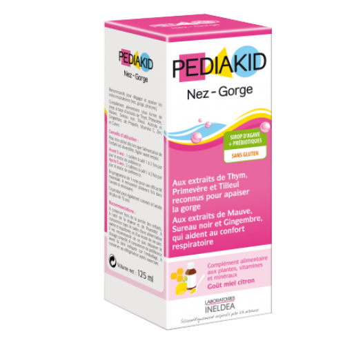 PEDIAKID NOSE and THROAT syrup 125ml..
