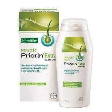 PRIORIN EXTRA shampoo with natural plant extracts and provitamin B5 200ml.