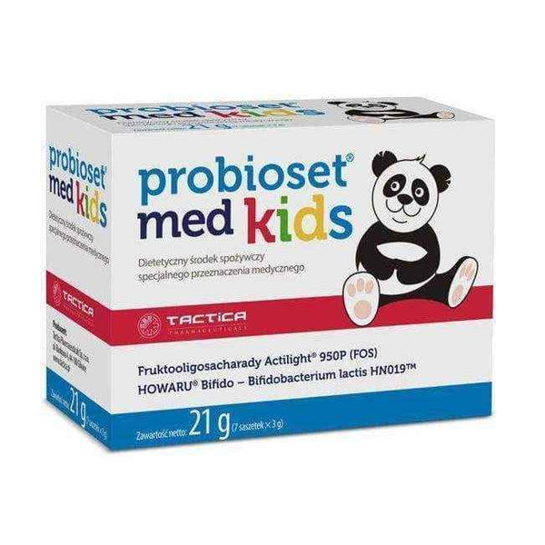 PROBIOSET MED KIDS x 7 sachets for children probiotics.