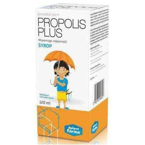 PROPOLIS PLUS Syrup 120ml affecting the immune system 3+, propolis extract, propolis liquid.
