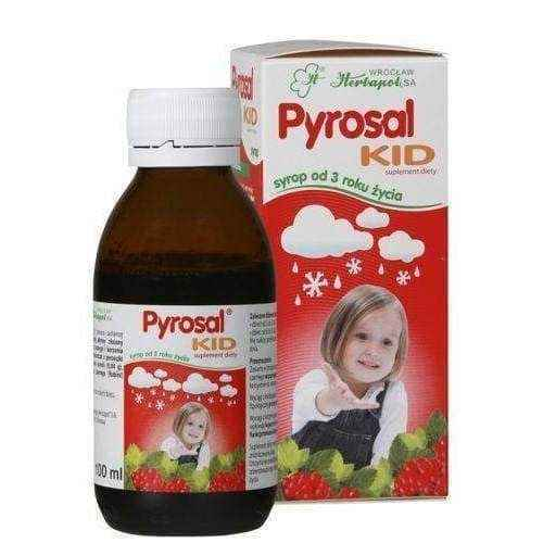 PYROSAL KID syrup 100ml natural immunity 3+, lower respiratory tract infection - ELIVERA UK, England, Britain, Review, Buy