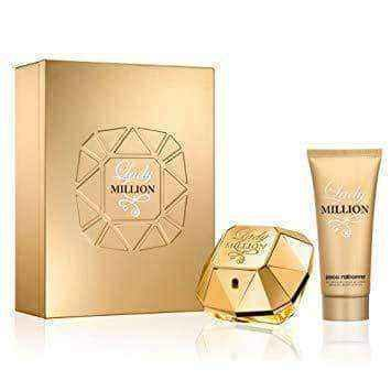Paco Rabanne Lady Million Gift Set 80ml EDP + 100ml Body Lotion + 5ml EDP