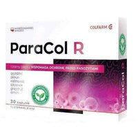 ParaCol R x 30 capsules, clove extract, wormwood extract, grapefruit extract.