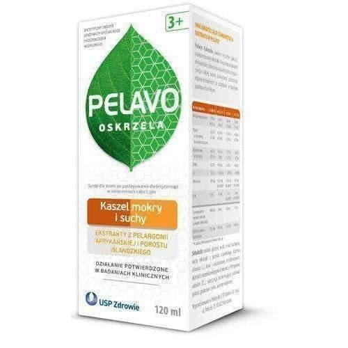 Pelavo Bronchial cough syrup wet and dry 120ml from 3 years of age