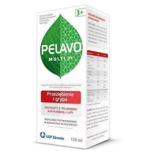 Pelavo Multi 3+ syrup 120ml colds and flu