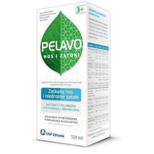 Pelavo syrup nose and sinus 120ml Children from 3 years of age UK