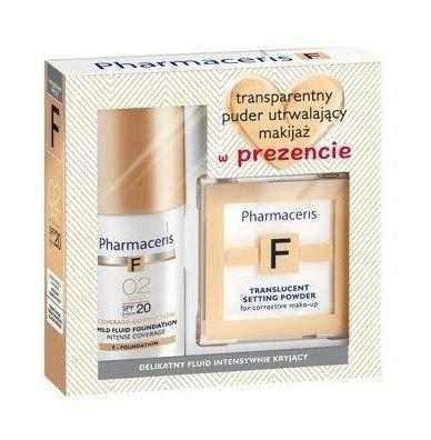 Pharmaceris F Fluid Intensive coverage set 02 + 6g transparent powder