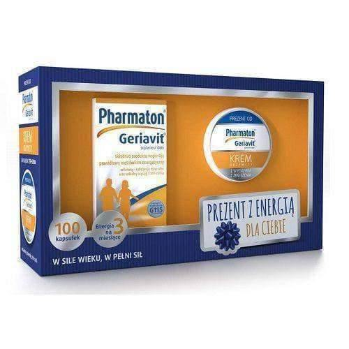 Pharmaton Vitality Capsules x 100 + nourishing cream with extracts of ginseng 50ml