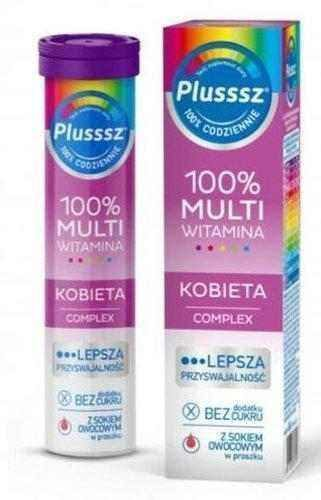 Plusssz 100% Multivitamin Female Complex x 20 effervescent tablets