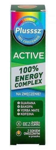 Plusssz Active 100% Energy Complex x 20 effervescent tablets.