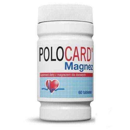 POLOCARD Magnesium 0,35g x 60 tablets, best magnesium supplement UK