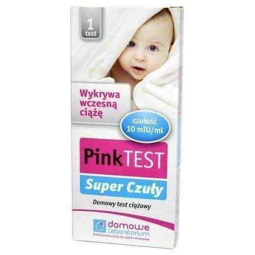 Pregnancy test at home, Pink Super Tender pregnancy test plate x 1 piece.