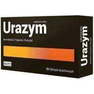 Proteolytic enzymes, URAZYM (Injured) x 30 tablets, papain, bromelain, rutoside