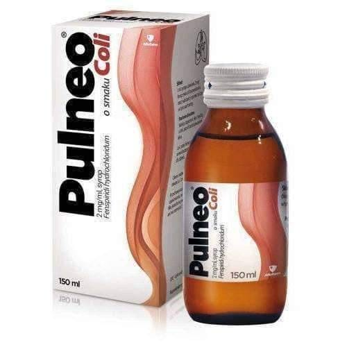 Pulneo syrup flavored Cola 150ml diseases of the bronchi and lungs children over 2 years.