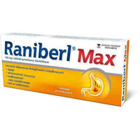 RANIBERL MAX x 20 tablets acid reflux treatment.