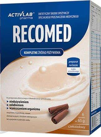 RECOMED chocolate flavor 65g x 6 sachets.