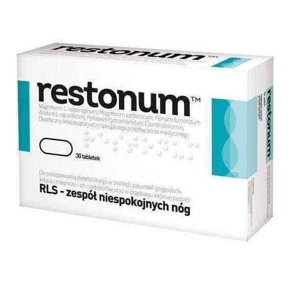 RESTONUM LS x 30 tablets treatment of restless legs syndrome