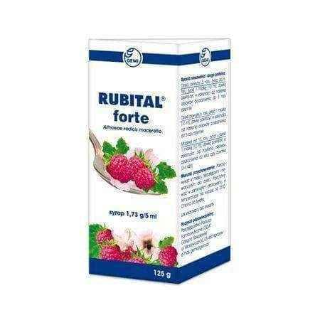 RUBITAL Forte Syrup 125ml Children 3 years+ , sore throat medicine