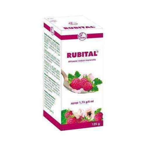 RUBITAL syrup 125ml - Raspberry, 6+ sore throat remedies.