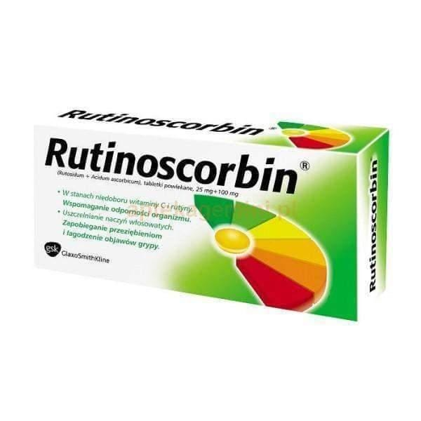 RUTINOSCORBIN 90 tab. immune system boosters, cold remedies, ascorbic acid UK