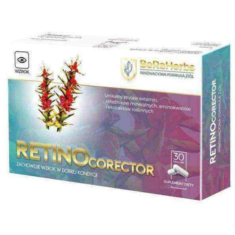 Retinocorector x 30 capsules, suplement possible eye diseases