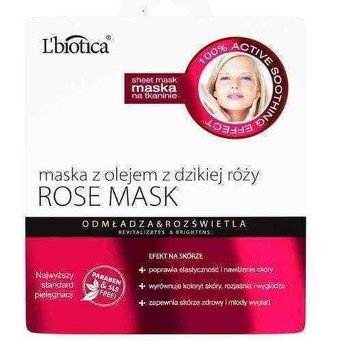 Rose Mask with rosehip oil 23ml - ELIVERA