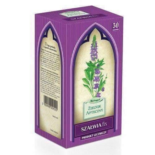 SAGE Fix (szałwia) x 30 sachets inflammation of the mouth and throat UK