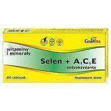 SELEN (Selenium) + A, C, E Antioxidant x 30 tablets, selenium supplement
