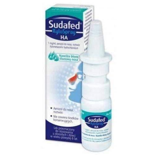 SUDAFED XyloSpray HA nasal spray 10ml  swelling of the nasal mucosa in acute