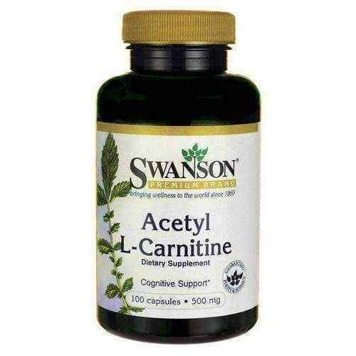 SWANSON Acetyl L-Carnitine 500mg x 100 capsules, l carnitine weight loss UK