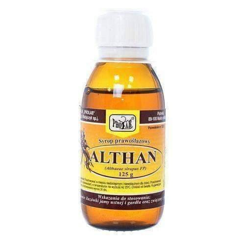 SYRUP Althan 125g syrup a natural product that coats, soothes and protects