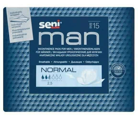 Seni Man Normal Urological cartridges x 15 pieces