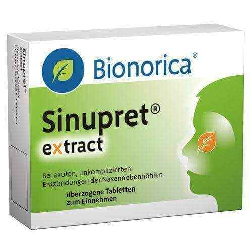 Sinupret extract 20, Sinupret EXTRACT x 20 dragees, sinus infection symptoms.