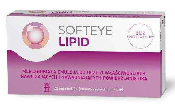 Softeye Lipid eye emulsion x 20 containers of 0.3ml