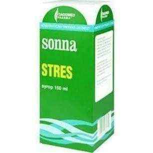 Sonna STRESS syrup 150ml, stress relief, stress relief products, how to reduce stress - ELIVERA UK, England, Britain, Review, Buy