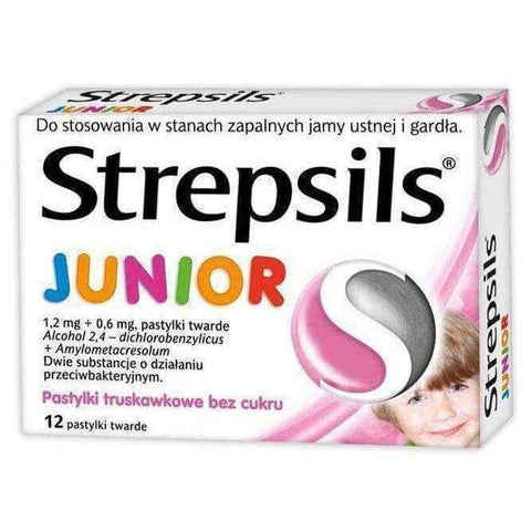 Sale Strepsils JUNIOR x 24 pills strawberry flavor, inflammation in the  mouth