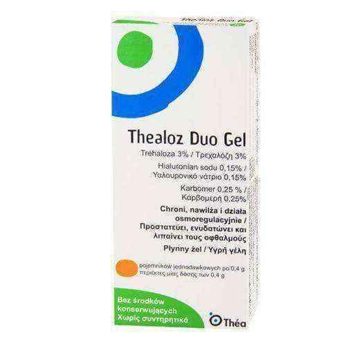 THEALOZ DUO GEL UD 10 x 0.4ml - thealoz duo