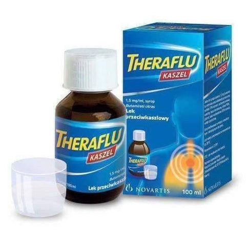 THERAFLU Cough Syrup 100ml antitussive properties Children from aged 3 years old