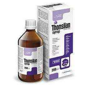 THONSILAN syrup 200ml 3+ tonsil infection, enlarged tonsils in children, tonsil problems - ELIVERA UK, England, Britain, Review, Buy